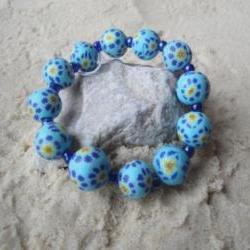 Blue Flower Bracelet