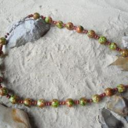 Brown-Green Necklace